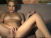 Gorgeous Blonde Playing With Herself pussy and eyes rolled in the back of her head